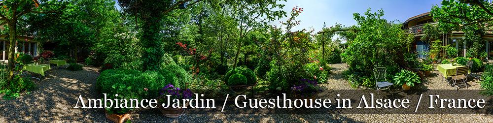 Ambiance Jardin панорама PANO 360 цветущего сада