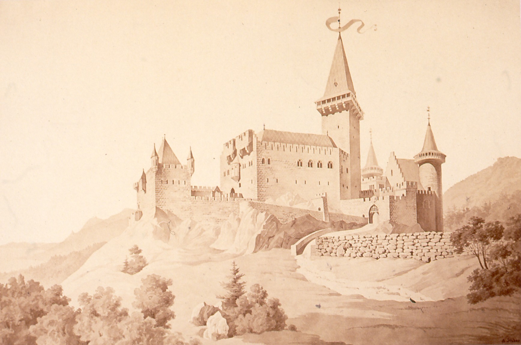 Chateau de Landsberg, прогулка с друзьями